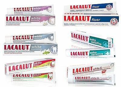 Medicine Toothpastes Lacalut For Bleeding Gums and Periodontitis - Choose 75 ml