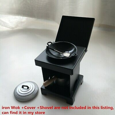 Miniature Stove with PansTiny Kitchen Japan Candy Toy Real cook play Mini Food