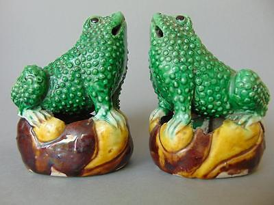 Fab Pair of 19th Century Chinese Porcelain Mythical Toads