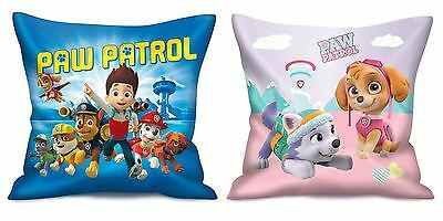 Paw Patrol Chase Marshall Skye Soft Square Scatter Cushion Pillow Children 35cm