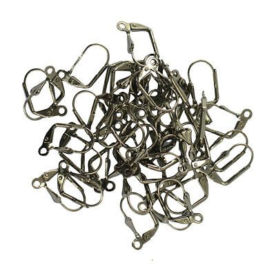 50pcs Retro Shell Leverback Earring Wire Coil DIY Craft Jewelry Making Finding