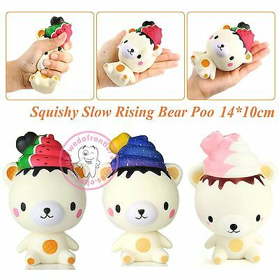 Squishy Bear Poop Scent Slow Rising Squeeze Pinch Fun Toy Gift Original Package
