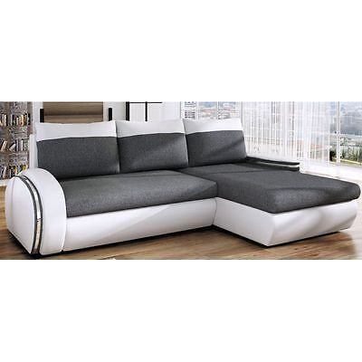 Corner Sofa Bed EGO W Bargain with Storage Container and Sleep Function New