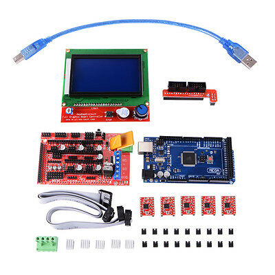 Ramps 1.4 + Mega2560 R3 + LCD12864 + A4988 3D Printer Kit Set for Arduino TE621