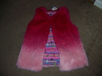 Trolls Girls pink vest fluffy New size 4-5