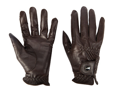 Dublin Leather Show /Riding Gloves - Black / Brown