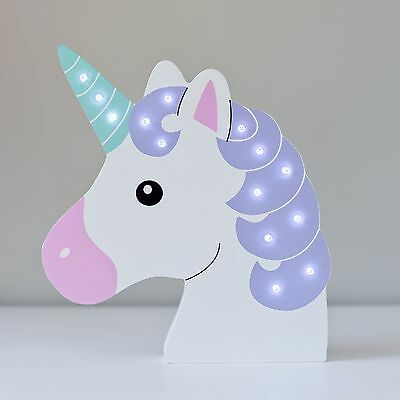 Up In Lights LED Light Up Magical Unicorn Decoration