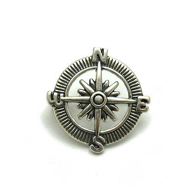 Sterling Silver Brooch Compass Solid 925 A000131 Empress