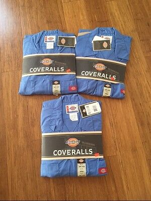 Lot Of 3 Mens Dickies Coveralls Short Sleeve Light Blue Size XL- Tall