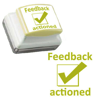 Feedback actioned - Large, Gold ink, Self-inking Teacher Stamp. 3.1x2.6cm