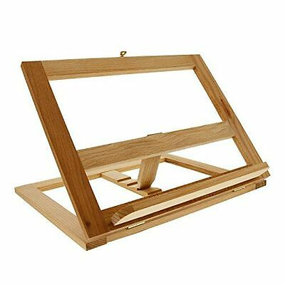 Foldable Book Stand Wood Adjustable Cookbook Holder Bookrack Easel Recipe Gift