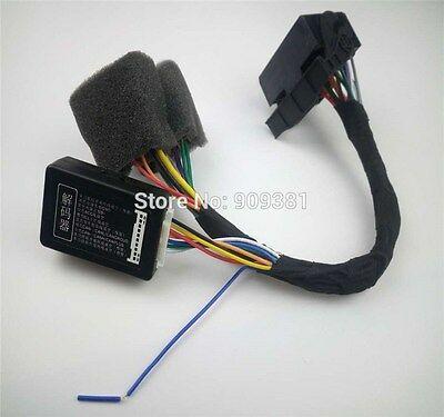 Plug&Play ISO Quadlock Adapter Cable w/ CANBUS Decoder Simulator For VW Golf VI