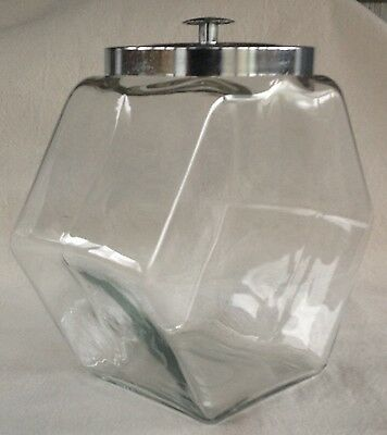 """Large Vintage Lidded Glass Jar 11""""x12"""", Store Counter, Display Use"""