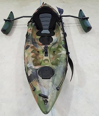 Sit On Top Fishing Kayak Galaxy Cruz New 2017 Model, Free Trolley & Outrigger
