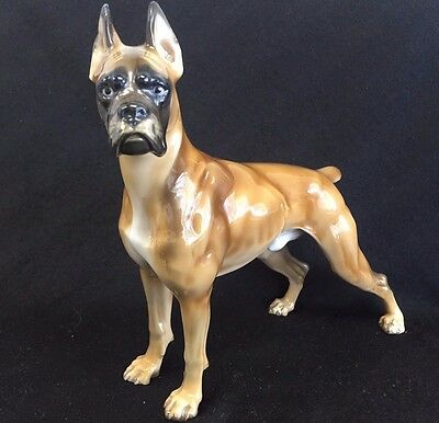 "Rosenthal Porcelain Boxer Dog Figurine Theodore Kaerner 7""   Wow!"
