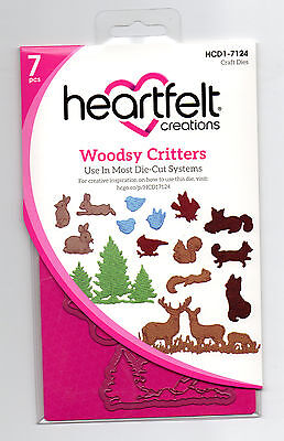 Woodsy Critters Heartfelt Creations Die for Cardmaking,Scrapbooking, etc