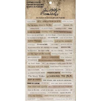 Tim Holtz Idea-Ology - Clippings Stickers - 4 Sheets