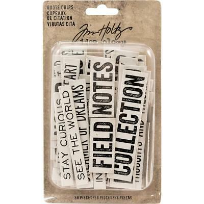 Tim Holtz Idea-Ology - Chipboard Quote Chips - 58 Pieces