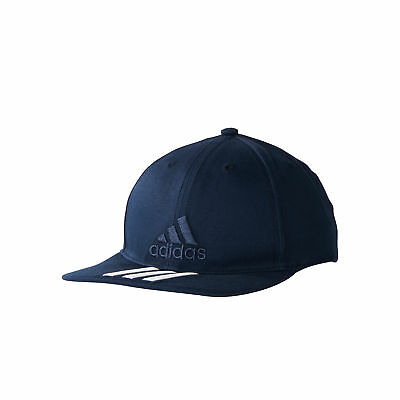 adidas Training 3 Stripes Mens Kids Classic Baseball Cap Hat Navy Blue/White