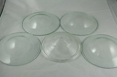 Vintage Convex Glass Covers Lot of 4 Smooth Bubble One Ribbed Re Use Upcycle