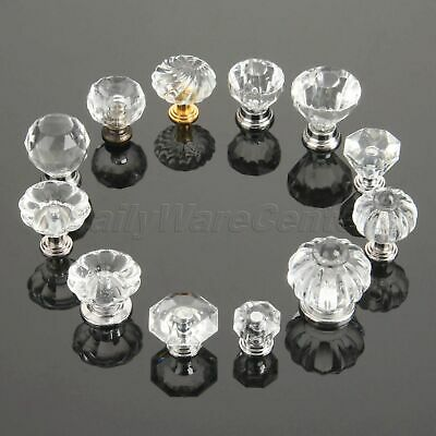 Jewelry Box Crystal Pull Handles Drawer Door Acrylic Cabinet Knobs Transparent