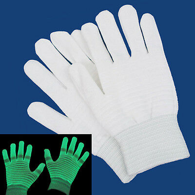 Glow In The Dark Gloves Hands Glowing Fabric Material Party Rave Night Club Show