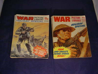 Fleetway War Picture Library Holiday Special x 2 Military Comics 1971 + 1972