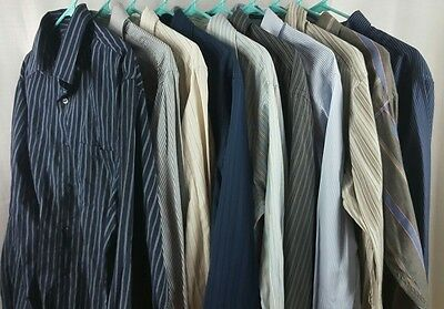 Lot Of 10 Mens Casual Dress Long Sleeve Button Front Shirt Large Lrg L Mix Fwuw