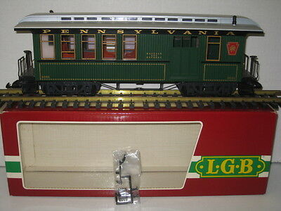 LGB 3081-E 02 Pennsylvania Railroad Passemger Combine , New in Orig. Box,G Scale