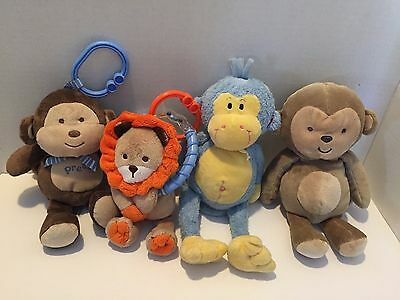 Plush Toy Baby Rattles & Music Soft Stuffed Animals toys lot of 4