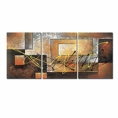Canvas Print Painting Reproduction Picture Poster Abstract Brown Wall Art Framed
