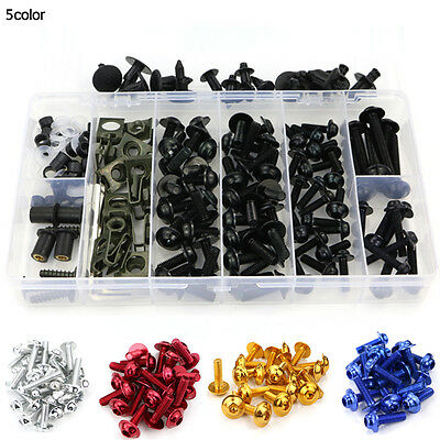 For Suzuki GS500F 05-09 Complete Bolt Motorcycle Fairings Screws Fasteners Black