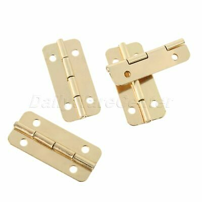 4/12/20pcs Gold Hinges 180° Rotation Jewelry Case Cabinet Door Drawer Hardware