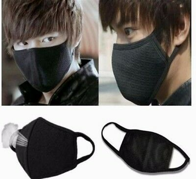 New Black Health Cycling Anti-Dust Cotton Mouth Face Respirator (Unisex )Mask