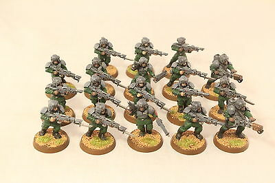 Warhammer Imperial Guard Cadian Shocktroopers  x19 Well painted