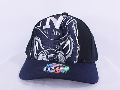 Nevada State Wolfpack Ncaa Fitted 6 7/8, 7 1/2 Cap Hat (D-120)
