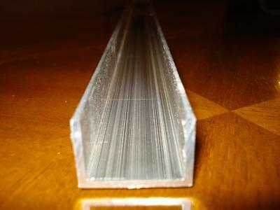 ALUMINIUM U PROFILE CHANNEL  25mm x 15mm  x  600mm LONG