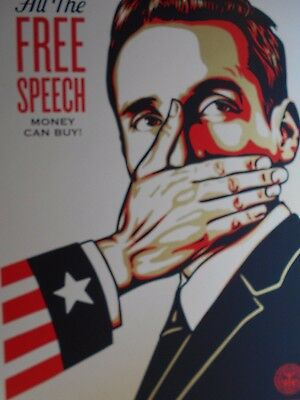 """Shepard Fairey Obey Giant """" Put Up or Shut Up""""  Signed 2015"""