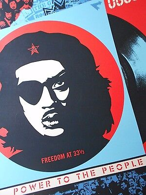 """Shepard Fairey Obey Giant """" Freedom """"  Signed 2004"""