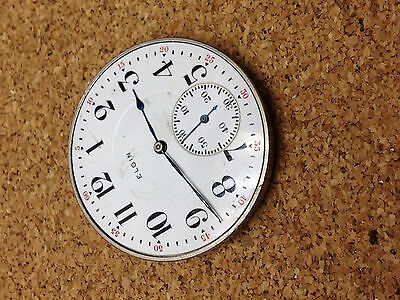 Elgin Nat'l Watch Co Usa 17 Jewels Wind Pocketwatch 18080497 Parts Repair  As Is
