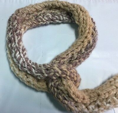 Hand Knit Children's Scarf Crochet Easy Tie Loop NWT #488