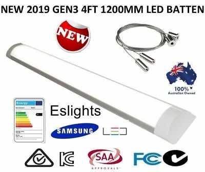 40W 4Ft 1200Mm Slim Led Batten Blade Light Replace T8 Fluorescent Tube Fitting