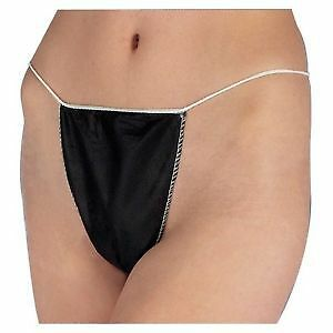 Hive Disposable Black G-Strings (10)