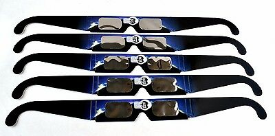 Eclipse Glasses - CE and ISO Certified Safe Solar Eclipse Shades - 5 pack