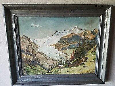Framed Antique Rare Impressionism Oil Painting On Board Signed By Ruppett