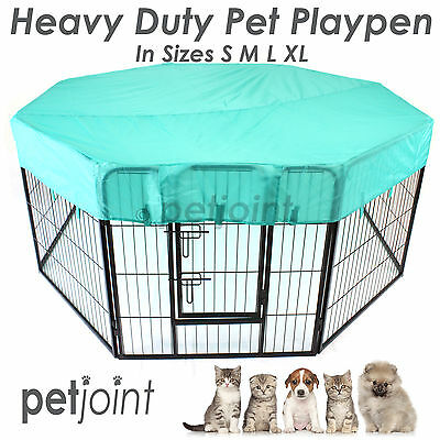 Heavy Duty Pen Pet Exercise Playpen 8 Panel Enclosure Cat Dog Poultry Cage Fence