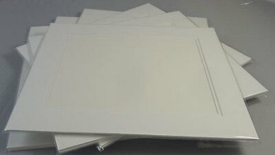 Picture Framing Mount Mats Kits 4 x Double White Suit 8 x 12