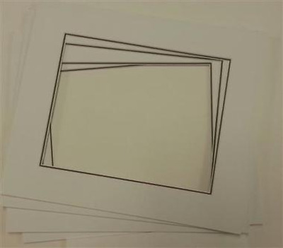 Picture Framing Mount Mats 6 x Double White on Black suit A4