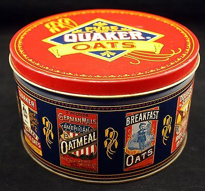 1983 Quaker Oats Heritage Cookie Decorative/Collectible Tin - Recipe on Tin