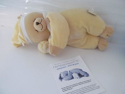 NOUKIE'S SOOTHE-A-SLEEP Bear BABY womb effect music soothing hearbeat inside EUC